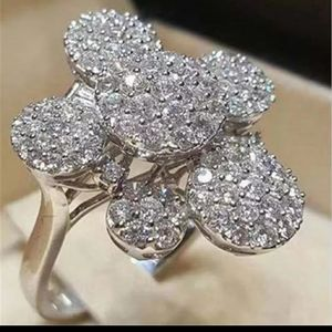 Women's Silvery Zircon Ring